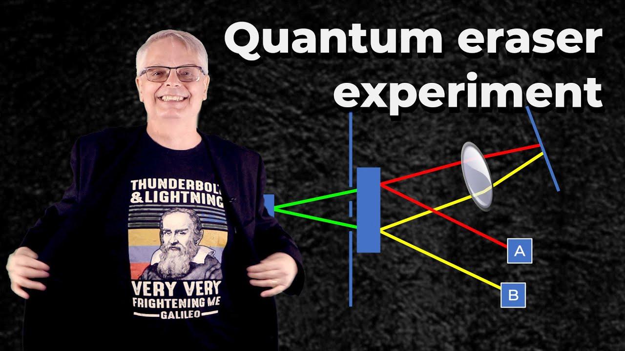 The super bizarre quantum eraser experiment